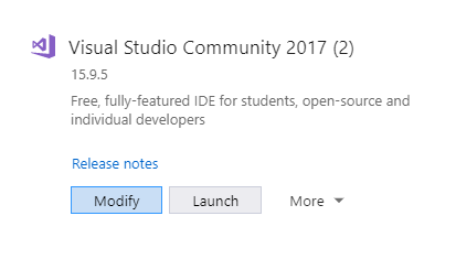 Click Modify to find the Workloads tab.