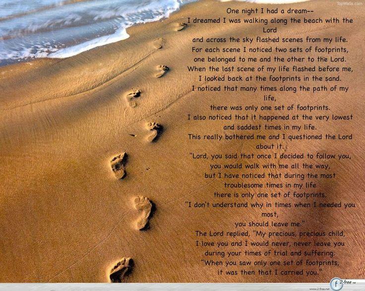 Footsteps poem