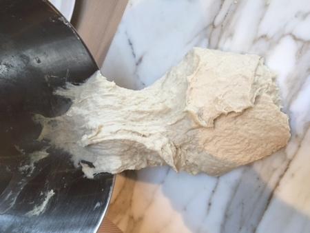 Medium 2 dough onto marble