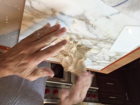 Medium 6 while kneading