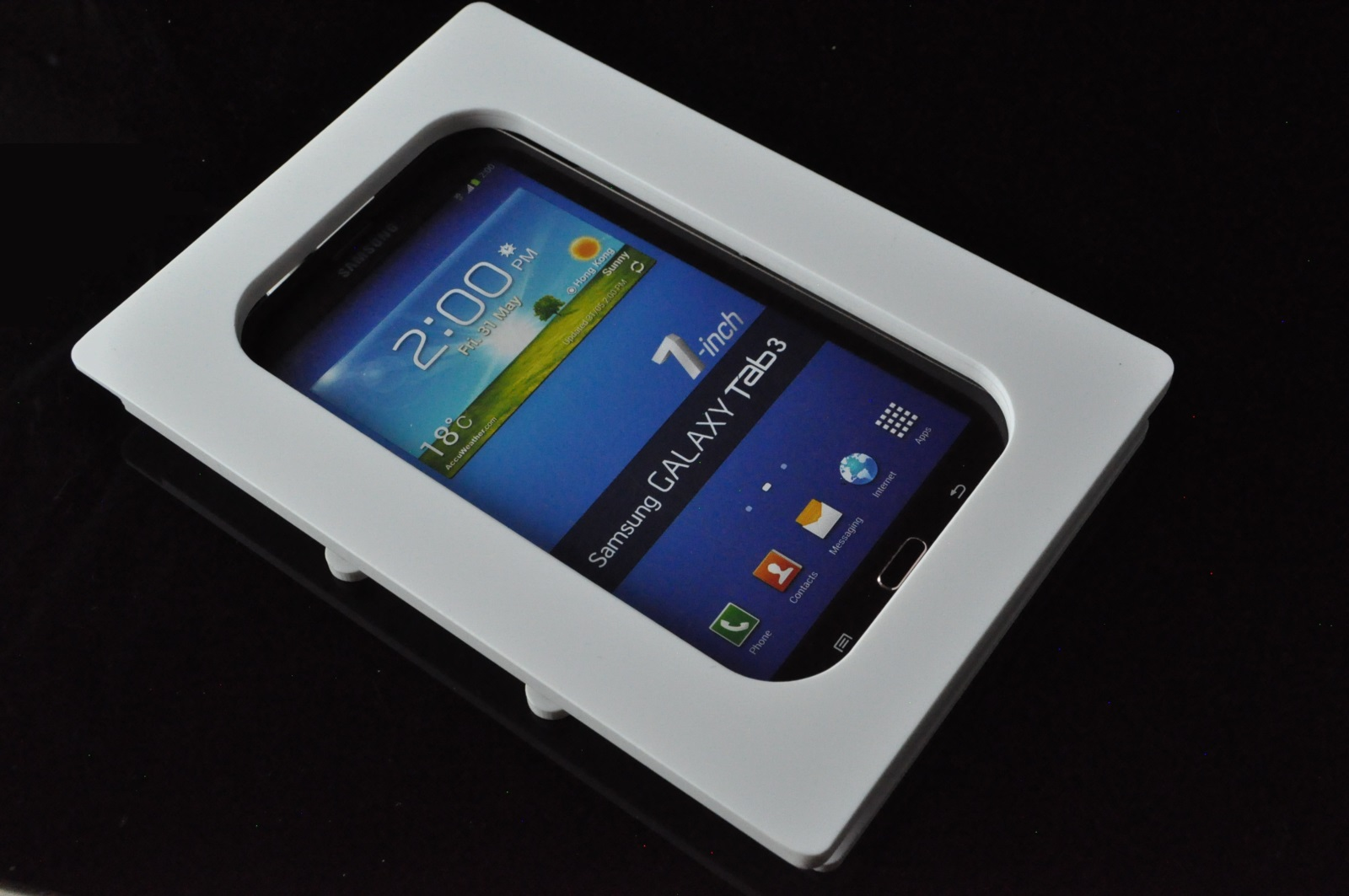 Samsung Galaxy Tab 3 7 0 White Acrylic Security Enclosure