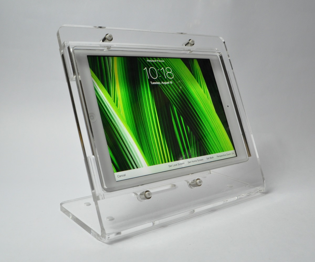 Tablet Acrylic Anti Theft Security Ez Desktop Stand For