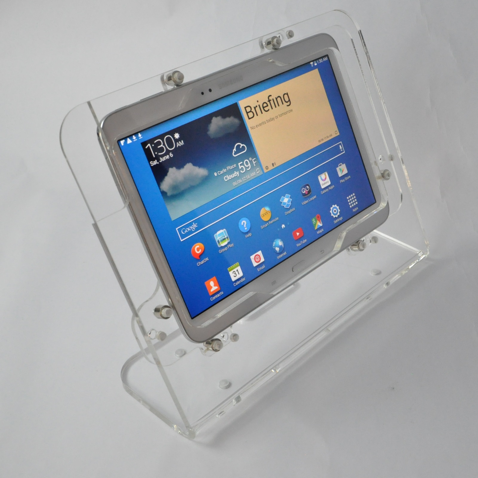 Store POS Galaxy Tab 2 10.1 Note 2013 Security Clear Desktop Stand for Kiosk