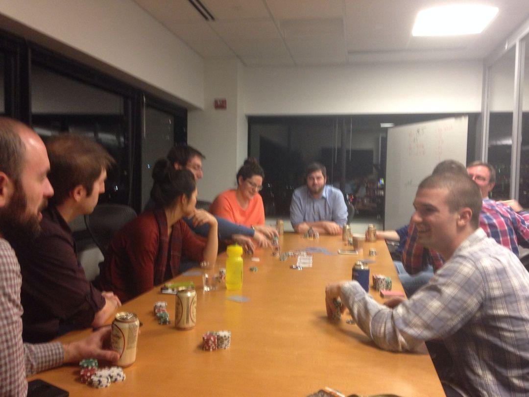 Thursday happy hour turned into Thursday Poker night!