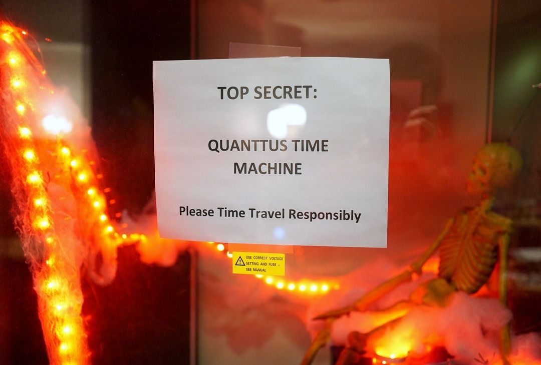 Haunted time machine (we never got the voltage setting correct). #halloween