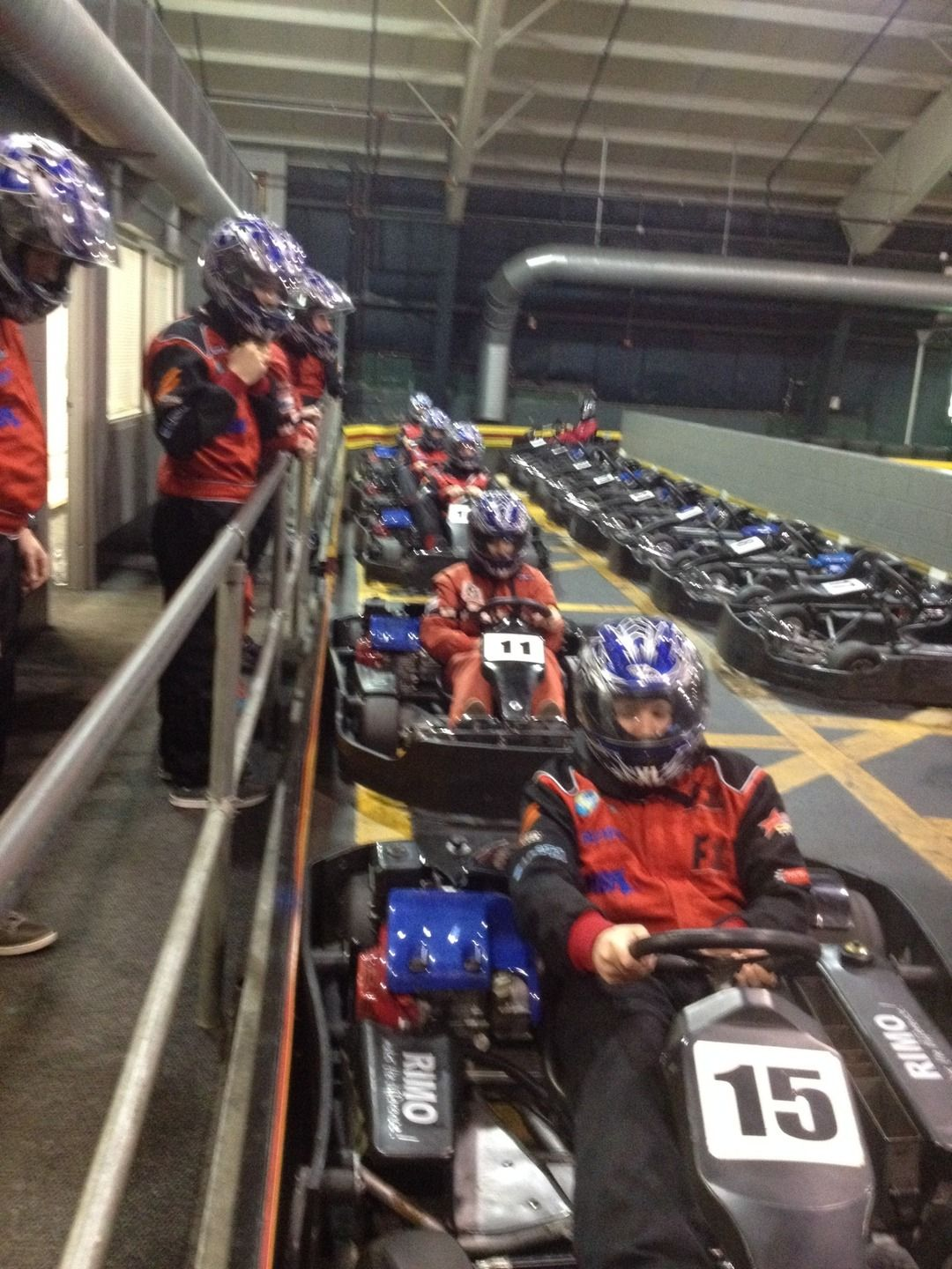 Getting ready to race