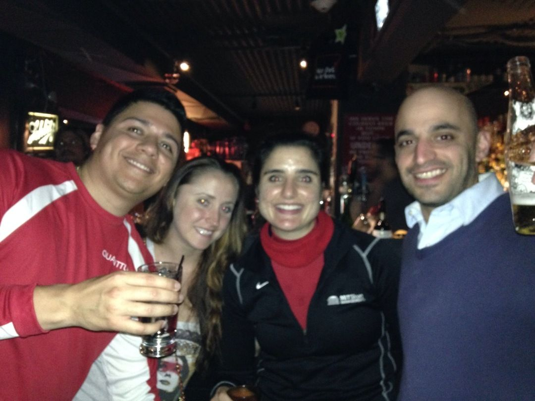 6 bars - 5 in boston and 1 in Cambridge, 7 miles, 2 quanttusians, 3 old friends, 2 new friends made, one unclosed tab, a couple dodged ca...