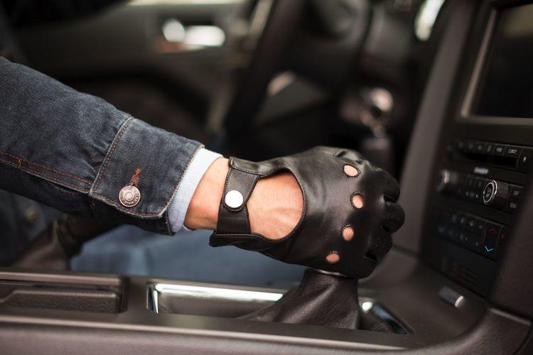 Skórzane rękawiczki męskie napoDRIVE