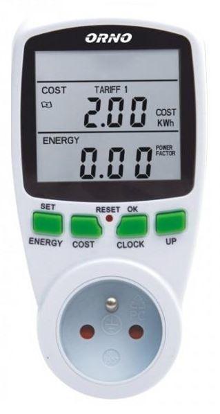 Dwutaryfowy watomierz Orno (miernik zużycia energii) OR-WAT-408