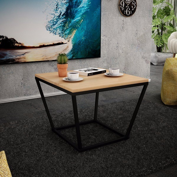 Wspaniały stolik kawowy ława do salonu drewno