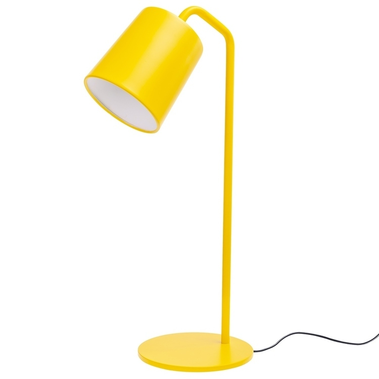 Lampa biurkowa FLAMING TABLE żółta