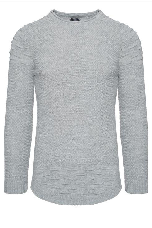 SWETER - SZARY 27003-3