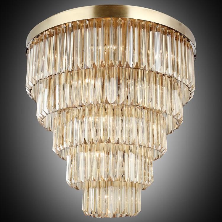 Kryształowa lampa sufitowa plafon  lucea gennaro 1418-52-15 hotel sala bankietowa restauracja salon