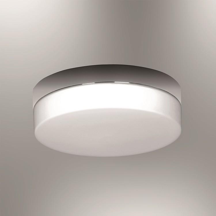 Biała lampa szklana ozcan 1403-1 biały plafon srebro chrom
