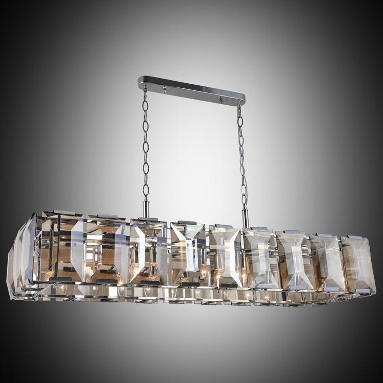Kryształowy srebrny  żyrandol lucea 1414-51-10-l talisca   hotel sala bankietowa restauracja salon