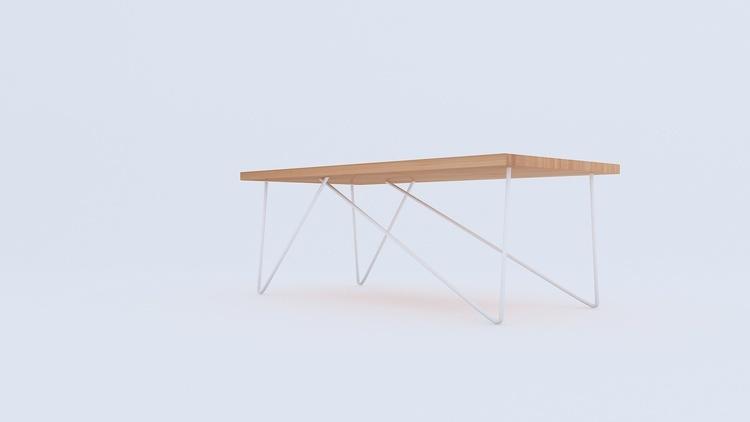 Stolik dębowy loftowy ława do salonu industrialna