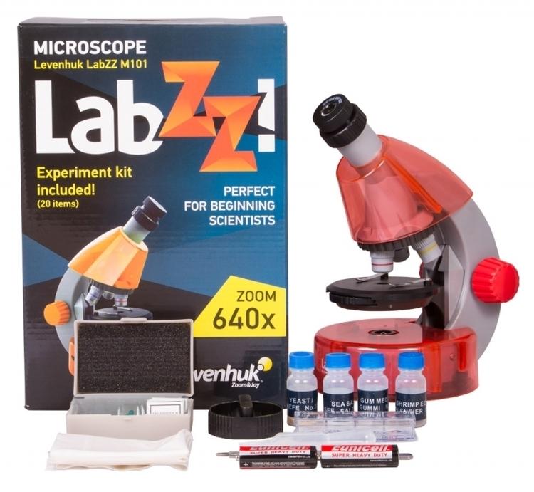 Mikroskop Levenhuk LabZZ M101 pomarańcza #M1