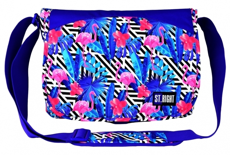 TORBA NA RAMIĘ FLAMINGO PINK&BLUE SB-01