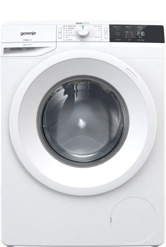 Gorenje Washing mashine WE743 Front loading, Washing capacity 7 kg, 1400 RPM, A+++, Depth 54.5 cm, Width 60 cm, White, LED, Di w Strefie Komfortu