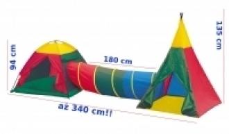 NAMIOT DZIECIĘCY IGLOO Z TUNELEM I TIPI 3W1 8703