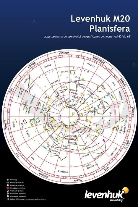 Duża planisfera Levenhuk M20 #M1
