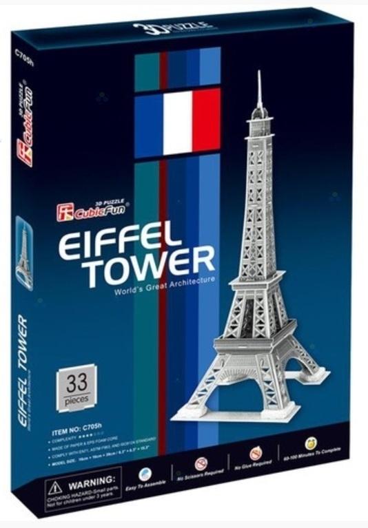 PUZZLE 3D WIEŻA EIFFLA 33 EL.