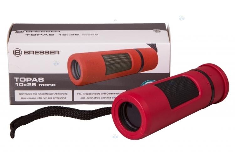 Monokular Bresser Topas 10x25, czerwony #M1