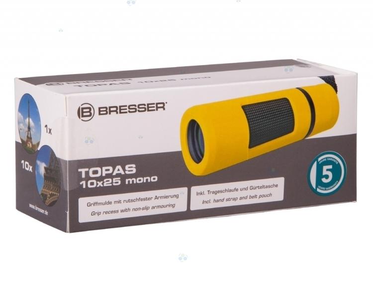 Monokular Bresser Topas 10x25, żółty #M1