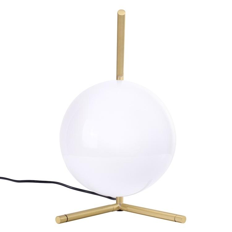 Lampa biurkowa HALM 1 - mosiądz, szkło