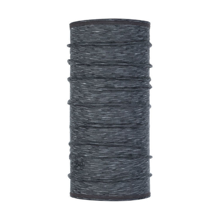 Chusta Lightweight 3/4 Merino Wool Buff STONE GREY MULTI STRIPES