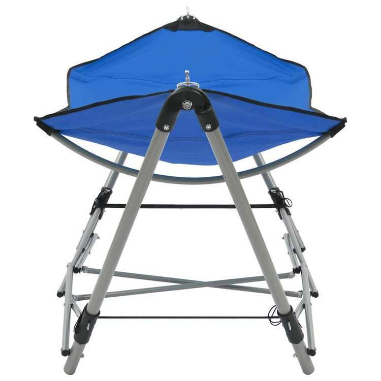 Hamak ze składanym stojakiem, niebieski