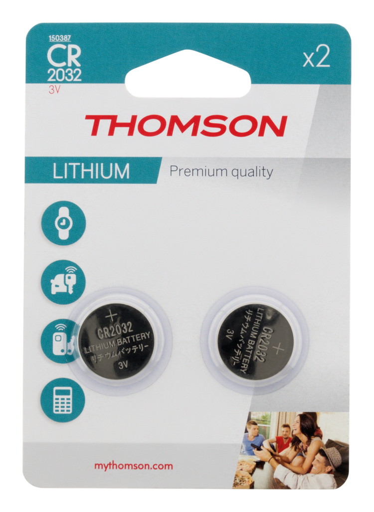 Baterie litowe CR 2032 3V THOMSON x2
