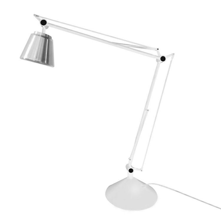 Lampa biurkowa RAYON ARM TABLE biała - LED, klosz z akrylu