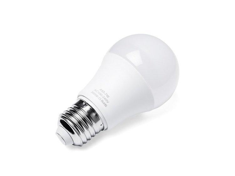 Lampka nocna - w kolorze srebra - stojąca - żarówka gratis - PATOKA