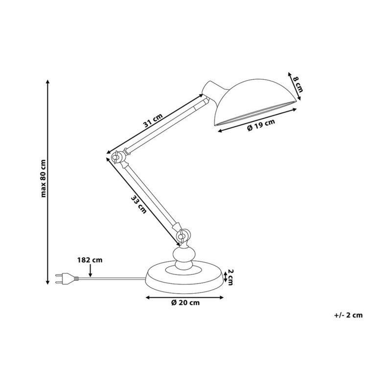Lampa biurkowa czarna MERAMEC