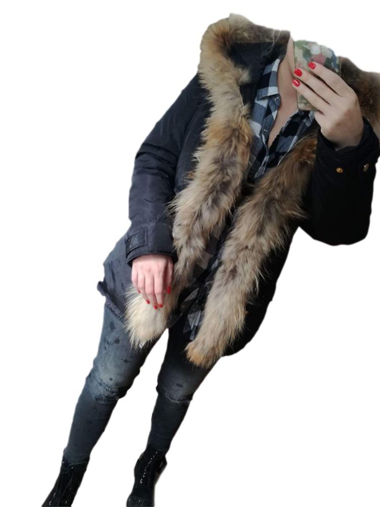 Kurtka parka  jenot naturalny  L, XL