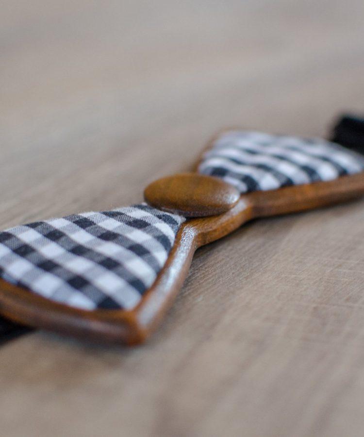 Checker - Drewniana Mucha od Wooden.Life
