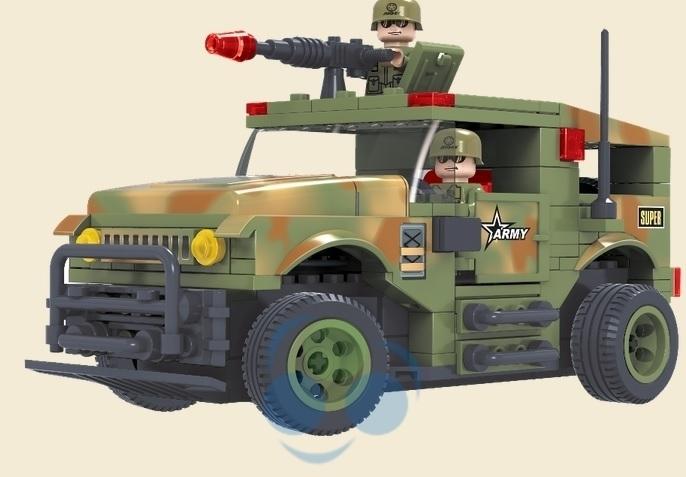 KLOCKI POJAZD NA RADIO Pojazd wojskowy
