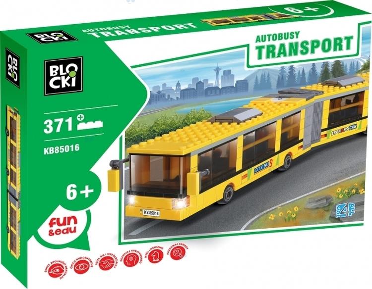 KLOCKI BLOCKI TRANSPORT -AUTOBUSY 371 EL. AUTOBUS PRZEGUBOWY