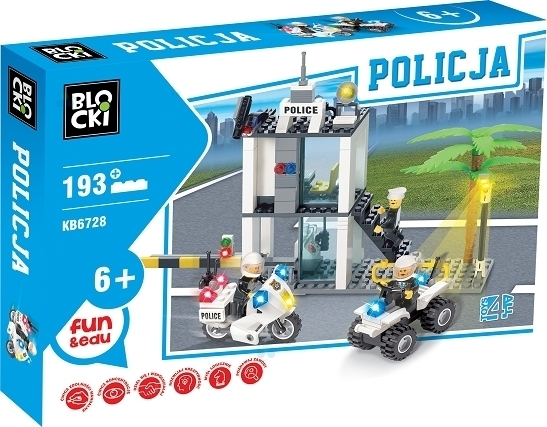 KLOCKI BLOCKI MYPOLICE POLICJA POSTERUNEK 193 EL.