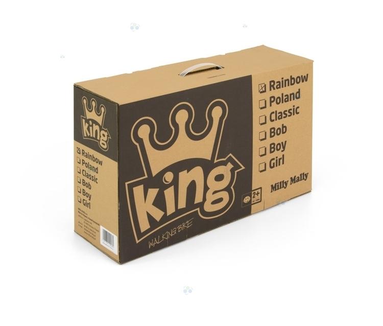 ROWEREK BIEGOWY DREWNIANY KING 2015 RAINBOW #B1