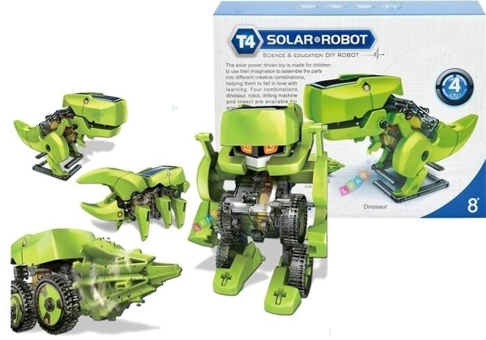 ROBOT SOLARNY 4W1 BATERIE SŁONECZNE DINOZAUR #C1