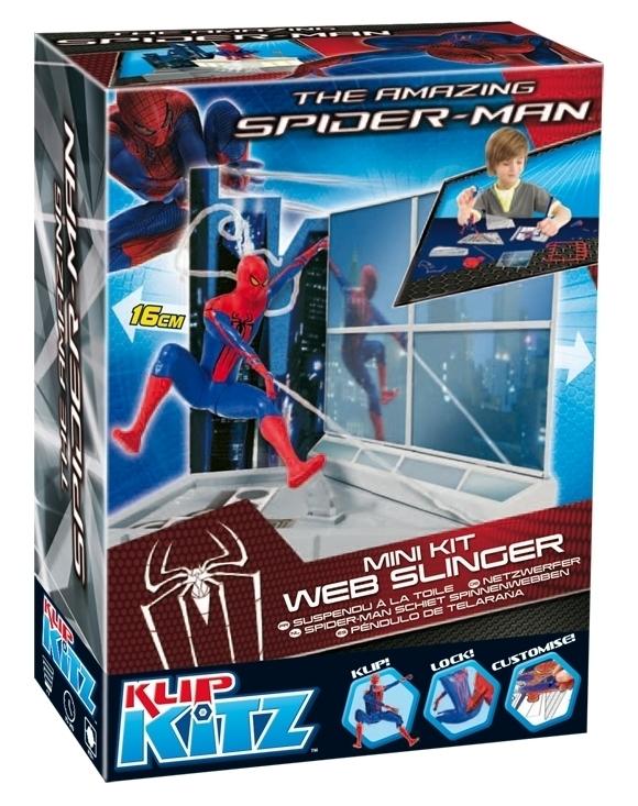 THE AMAZING SPIDER-MAN RZUCAJĄCY PAJĘCZYNĄ KLIP KITZ