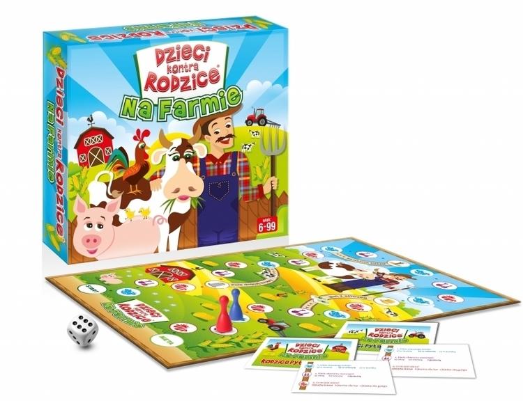 Gra planszowa Dzieci kontra rodzice: na farmie