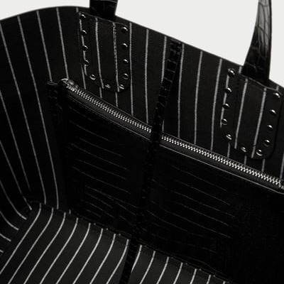 ZARA torebka elegancka wężowa 8043/204 duża A4 HIT