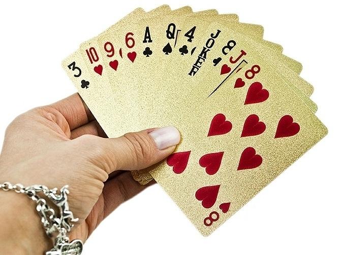 Karty do gry plastikowe złote #E1