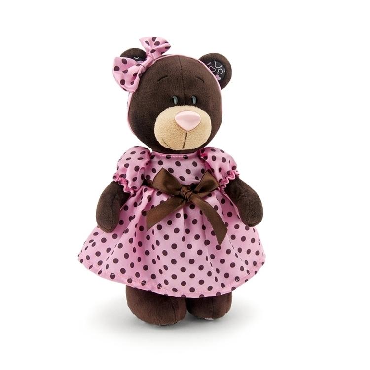 Przytulanka Stojąca Pani Milk w letniej sukience 25cm #T1