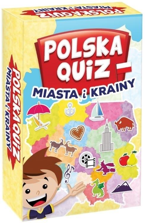 Gra rodzinna Polska quiz - miasta i krainy