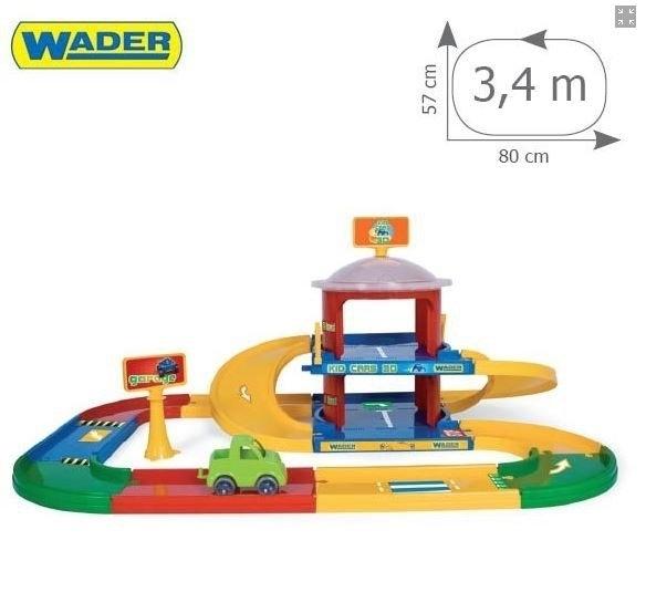Wader 53020 Kid Cars 3D garaż 2 poziomy z trasą #A1