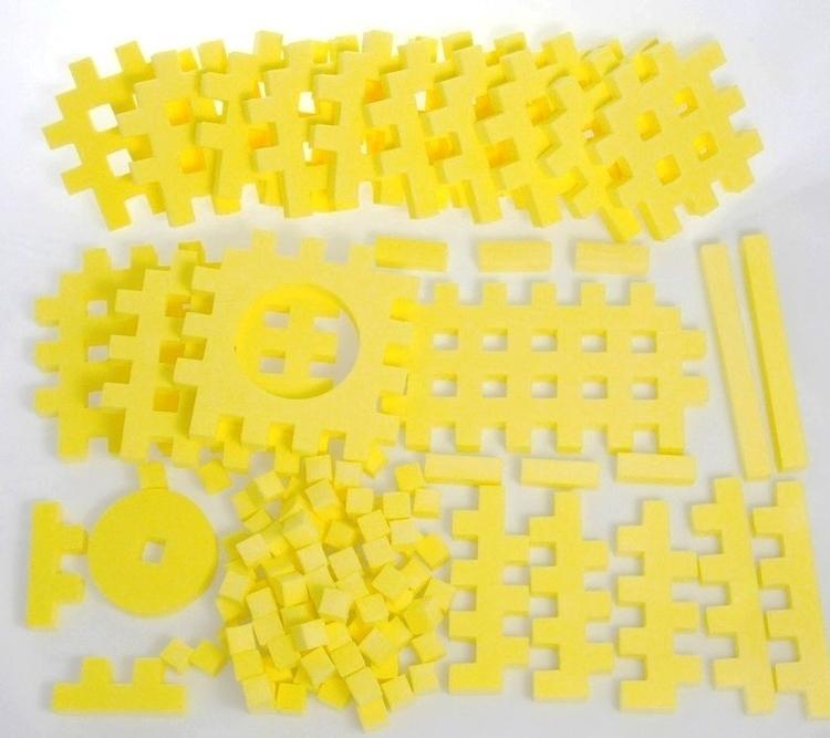 PIANKOWE PUZZLE SENSORYCZNE 115EL. lemon premium #U1